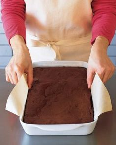 Keep brownies from sticking