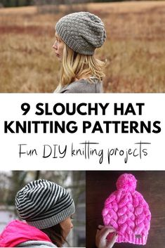 Just the right amount of slouch to look hot when it's cool here's 9 Slouchy Hat Knitting Patterns Diy Knitting Projects, Knitting Blogs, Knitting Patterns, Knitting Ideas, Hat Patterns, Yarn Projects, Knitting Designs, Knit Slouchy Hat Pattern, Cable Knit Hat