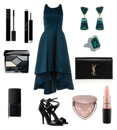 """#chicnight"" by srny98 ❤ liked on Polyvore featuring Christian Dior, Valentin Magro, Gucci, Yves Saint Laurent, NARS Cosmetics, MAC Cosmetics and Too Faced Cosmetics"