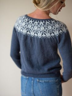 Ravelry: Lotusblomstkofte / Lotus flower jacket sweater knitting pattern by Marianne J. Bjerkman Pattern is available in English and Norwegian, both versions will made available upon purchase. Kids Knitting Patterns, Knitting Designs, Knitting Projects, Sewing Patterns, Nordic Sweater, Icelandic Sweaters, Knitted Baby Cardigan, Fair Isle Pattern, Fair Isle Knitting