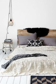 Starry Patchwork Kantha Bed Blanket Bedroom Bedroom Decor Home Cozy Bedroom, Dream Bedroom, Bedroom Decor, Stylish Bedroom, Summer Bedroom, Minimal Bedroom, Bedroom Inspo, Modern Bedroom, Bedroom Ideas