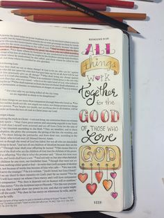 Romans 8:28 Graceful Palette - Bible journaling examples and devotions