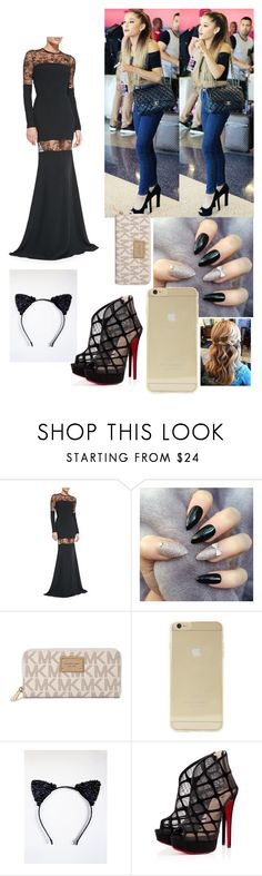 """Taking My Baby Somewhere Special ~Ariana"" by mindlesschica62 ❤ liked on Polyvore featuring Elie Saab, Michael Kors, Sonix, Masquerade and Christian Louboutin"