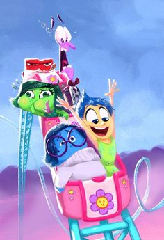 """nolenlee: """"An emotional roller coaster! What a wonderful film by Pete Docter, Ronnie Del Carmen and the rest of the creative team at Pixar. Thanks for making this film! Disney Animation, Disney Pixar, Film Disney, Disney Fan Art, Disney And Dreamworks, Disney Love, Disney Magic, Disney Characters, Bing Bong Intensamente"""