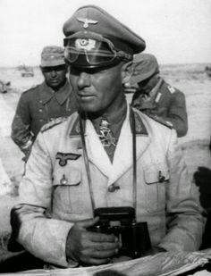 ·Rommel· The Desert Fox was perhaps Germany's greatest military leader. He was forced to commit suicide for his role in a conspiracy against Hitler. German Soldiers Ww2, German Army, Ww2 History, Military History, Afrika Corps, North African Campaign, Erwin Rommel, German Uniforms, Panzer