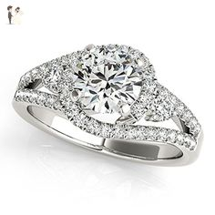 Unique Forever One Moissanite Engagement Ring 50783 - Wedding and engagement rings (*Amazon Partner-Link)