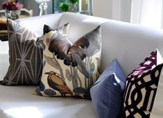PAIR of  20sq Thomas O'Brien NYMPHEUS pillow covers by woodyliana, $280.00