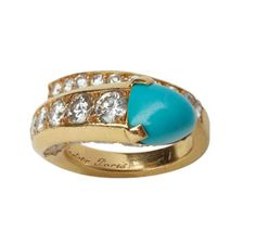 FD GALLERY | Cartier | A Turquoise and Diamond Ring, circa 1960