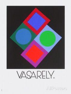 Expo Vasarely (affiche avant la lettre) Reproductions pour les collectionneurs