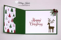 Stampin' Peace - Be Merry Designer Series Paper, Merry Mistletoe stamp set, - Christmas Gift Card Holders, Homemade Christmas Cards, Xmas Cards, Homemade Cards, Holiday Cards, Gift Cards Money, Itunes Gift Cards, Free Gift Cards, Fancy Fold Cards