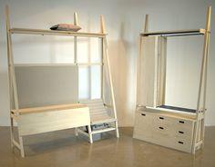 Yatno le mobilier design pour espace réduit par Joey Dogge - dutch design lit bed table en bois pour vivre dans de petits espaces modulables.