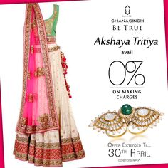 #AkshayaTritiya offer continues @ Ghanasingh Be True. Avail the extended offer of 0% making charges #OccasionToBeTrue #discount #Style #Jewellery