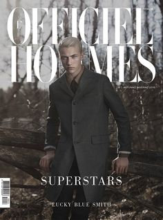 Lucky Blue Smith in Prada for L'Officiel Hommes Italia