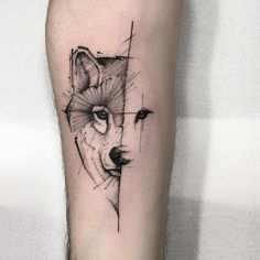 One of yesterday's flashes. Questions and Budgets - WhatsApp - Tattoo Style Wolf Tattoos, Body Art Tattoos, Tattoos, Wolf Face Tattoo, Maori Tattoo, Dog Tattoos, Face Tattoo, Geometric Tattoo, Popular Tattoos