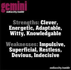 Geminis strength & weakness