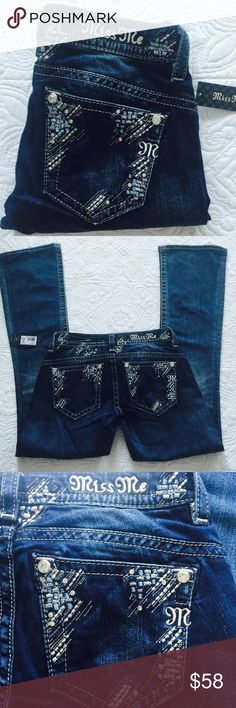 """Miss me jeans New with tag. ️Size 25, inseam 32, rise 7.5"""", waist 30"""", 93% cotton, 6% polyester, 1% elastane. Price is firm Miss Me Jeans Boot Cut"""