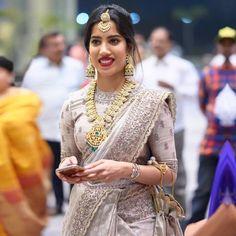 Bridal Blouse Designs, Saree Blouse Designs, Indian Designer Outfits, Indian Outfits, Couple Wedding Dress, Wedding Couples, Half Saree Lehenga, Georgette Sarees, Saree Wedding