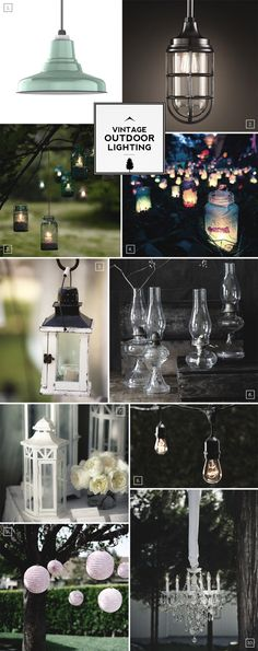 Vintage Outdoor Lighting Ideas and Mood Board