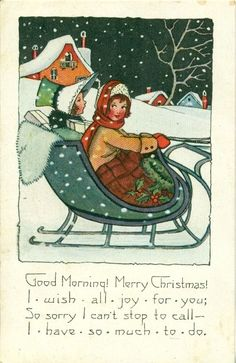 Image result for antique christmas cards with COTTAGE