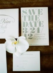 beautiful, classy save-the-date