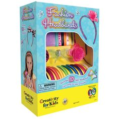 Style:Original Fashion Headbands Allow your child to embrace their creative side and let their imagination run wild with a Creativity for Kids Fashion craft kit! With the Fashion Headbands craft kit, you can create 10 hair accessories unique to you! Toys For Girls, Gifts For Girls, Girl Gifts, Kids Girls, Tween Girls, Big Kids, Top Gifts, Best Gifts, Headband Crafts