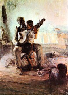 Henry Ossawa Tanner (American artist, 1859-1937) The Banjo Lesson