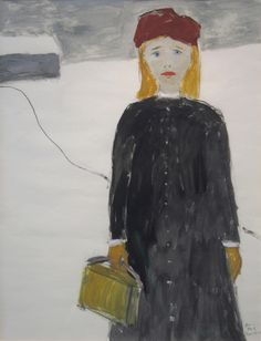 JEAN PAUL LEMIEUX: Jeune Fille dans la Neige Jean Paul Lemieux, Everybody Hurts, Life Is Strange, Art Things, Canadian Artists, Contemporary Paintings, Les Oeuvres, Masters, Folk Art