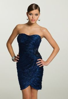 Homecoming Dresses - Strapless Waffle Knit Dress from Camille La Vie and Group USA