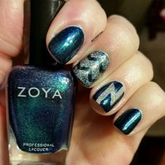 @zoyanailpolish Remy topped with @revlon Holographic Pearls, designs done with vinyls.