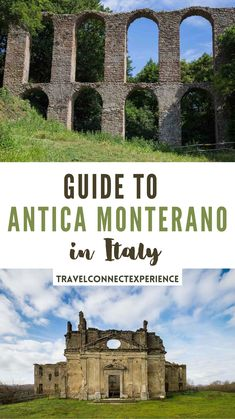 Antica Monterano is an abandoned town in Italy 60 km north of Rome. It features incredible natural and man-made landmarks like two fountains by Gian Lorenzo Bernini, a waterfall, churches, grottoes and a noble palace | Ghost towns in Italy | Day trips from Rome | Rome countryside | day hikes near Rome | Rome getaways | best places outside Rome