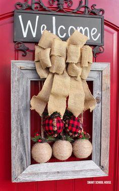 Picture Frame Christmas Wreath | Smart School House | Bloglovin'