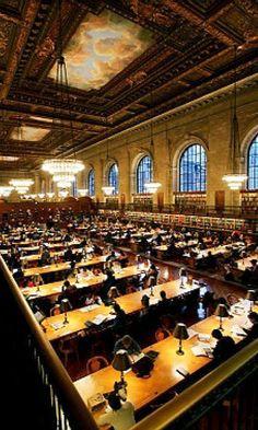 La maravillosa Sala de Lectura Rose Main en la New York Public Library