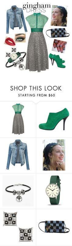 """""""Check Republic: Gingham Dress"""" by miriam-witte ❤ liked on Polyvore featuring Lela Rose, Balenciaga, LE3NO, Sara Attali, Insignia Collection, Newgate, Elora, Marc Jacobs and Jouer"""