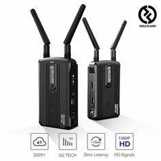 Buy Wireless HDMI Video Transmission System, Hollyland Mars 300 Image Transmitter and Receiver Kit Support HD 300 Feet for DSLR Mirrorless Camera Gimbal Stabilizer Dolby Digital, Digital Audio, Multi Camera, Hdmi Splitter, Data Transmission, Cable Box, Photography Gear, Hdmi Cables, Hd 1080p