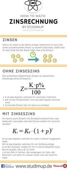 Erklärung vom Zins und der Zinsrechnung. So könnt ihr es euch selbst berechnen. Mate leicht erklärt. Schulmathe fürs Gymnasium und der Realschule.