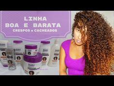 LINHA BOA E BARATA PARA CRESPAS E CACHEADAS/por DEBBY SERRA - YouTube