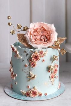 Pretty Wedding Cakes, Beautiful Birthday Cakes, Gorgeous Cakes, Wedding Cake Designs, Pretty Cakes, Amazing Cakes, Elegant Birthday Cakes, Designer Birthday Cakes, Best Wedding Cakes