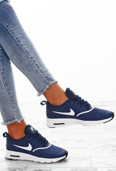 681dcf2a214f2e Nike Air Max Thea Navy Trainers Nike Air Max Trainers