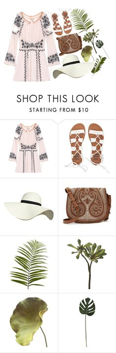 """""""Paradise"""" by clampigirl ❤ liked on Polyvore featuring For Love & Lemons, Billabong, Pilot, Tory Burch, Pier 1 Imports, CB2, New Growth Designs, Summer and quickset"""