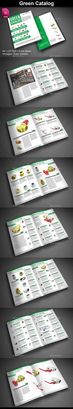 Green Catalog Template #design Download: http://graphicriver.net/item/green-catalog/12587206?ref=ksioks