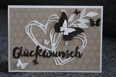 Hochzeitskarte, Grüße voller Sonnenschein, Beautiful Wings, Designerpapier Liebesblüten, Stampin up