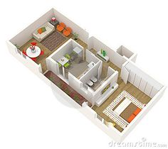 D isometric views of small house plans   Kerala home design and    tiny house plans for     Google Search