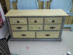 How to paint a dresser without sanding.
