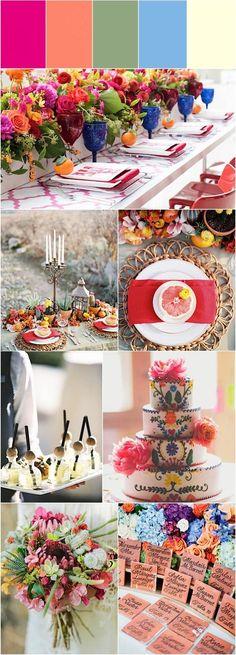 Fabulous Cinco de Mayo Inspired Wedding Ideas Mod Wedding, Dream Wedding, Wedding Day, Wedding Dreams, Wedding Color Schemes, Wedding Colors, Celebrate Good Times, Cake Business, Fiesta Party