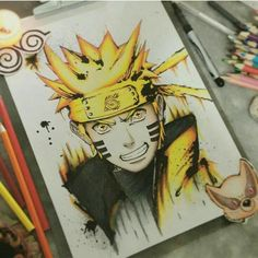 sasuke or naruto? full credits goes to the (unknow) artist Naruto Sketch, Naruto Drawings, Anime Sketch, Naruto Uzumaki Art, Naruto Kakashi, Naruto Tattoo, Anime Tattoos, Bts Art, Manga Anime