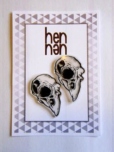 Skull earrings.