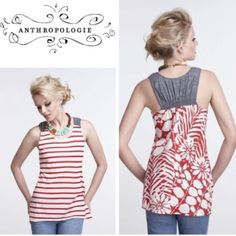 Anthropologie overgrowth tank - one sept Size s and will fit a size 4-6 best. Will bundle for 10% off . This is in great condition . No flaws . Anthropologie Tops Tank Tops