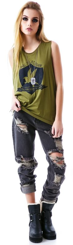 One Teaspoon All You Need #Distressed Harry #Tee