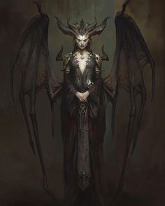 Diablo IV Concept Art and Press Kit Screenshots - Barbarian, Sorcerer, Druid, Lilith - Wowhead News Dark Fantasy Art, Fantasy Artwork, Fantasy Girl, Dark Art, Demon Artwork, Lilith Diablo, Vampires, Black Moon Lilith, Ange Demon