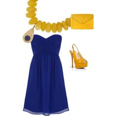 blue and yellow my polyvore creation! :)